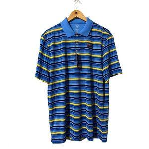 Chaps Golf Polo Striped Shirt size L